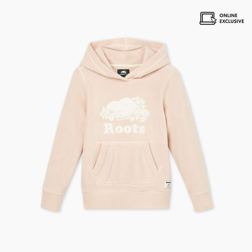 Roots-Sweats Girls-Girls Sherpa Kanga Hoody-Crystal Pink-A