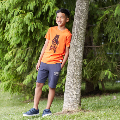 Roots-Kids T-shirts-Boys Animal T-shirt-Spicy Orange-A