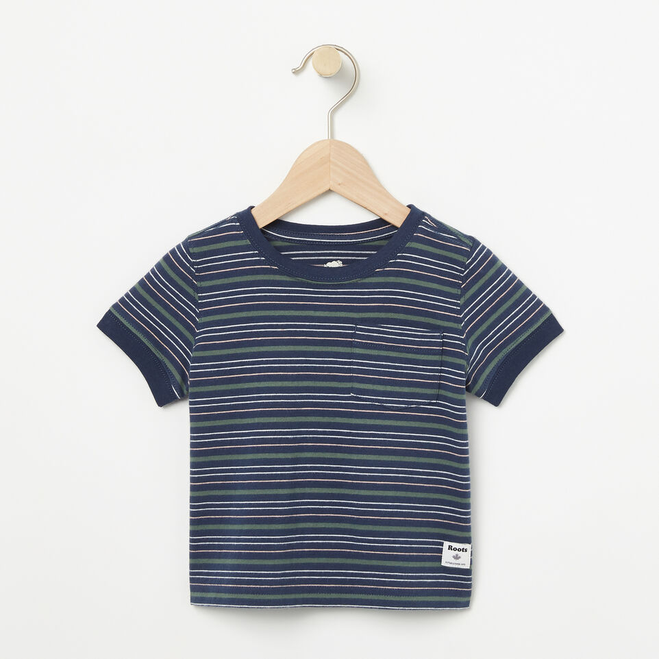 Roots-Baby Striped Ringer Top