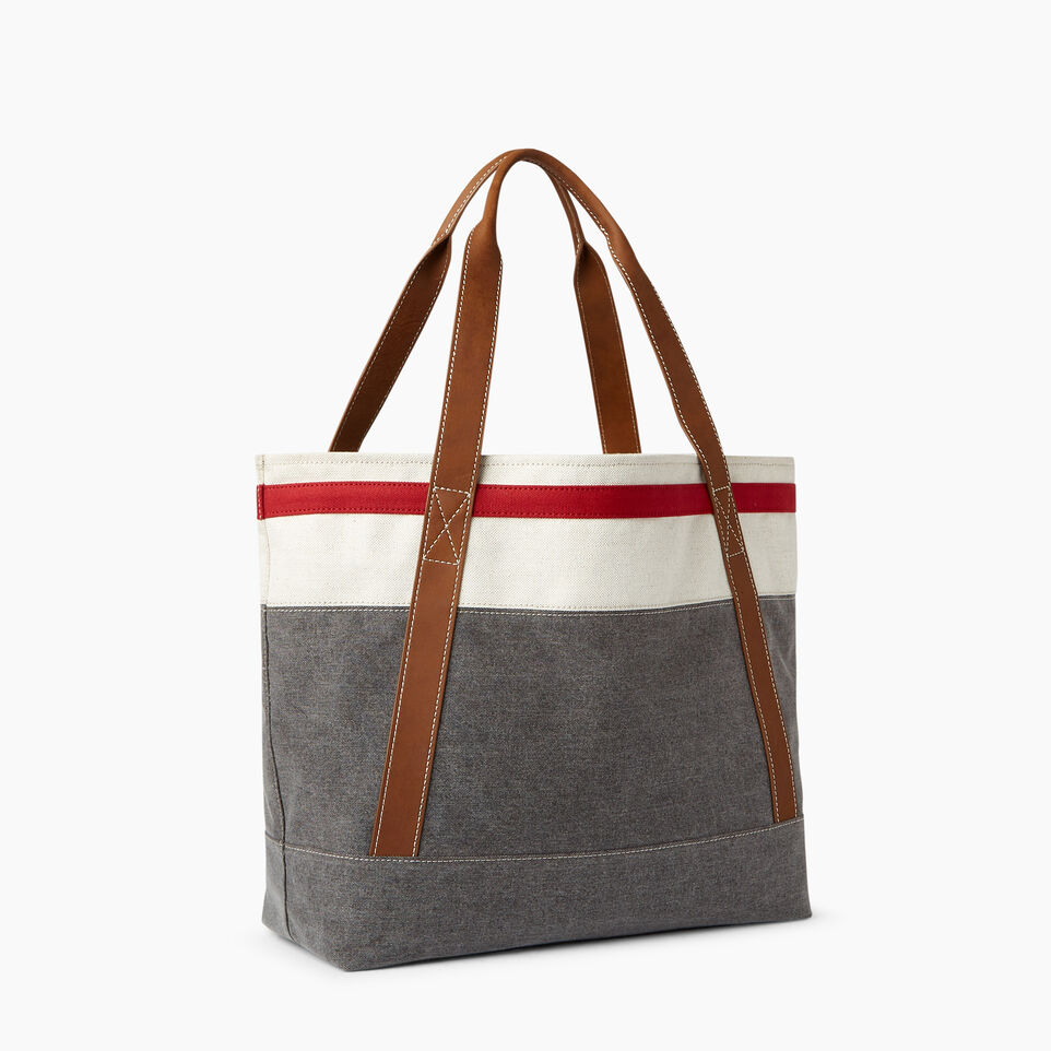 Roots-Women General Store-Cabin Tote-Grey Oat Mix-A