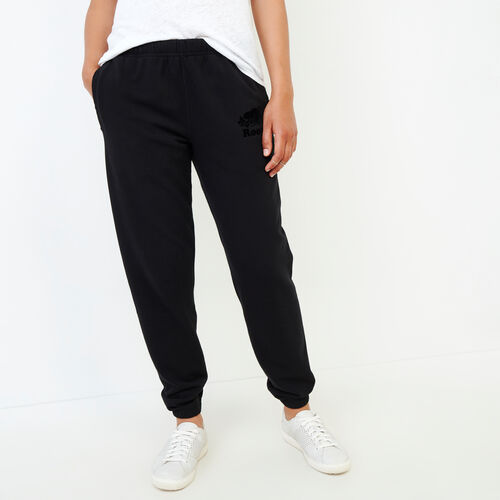 Roots-Women Categories-Original Cozy Sweatpant-Black-A