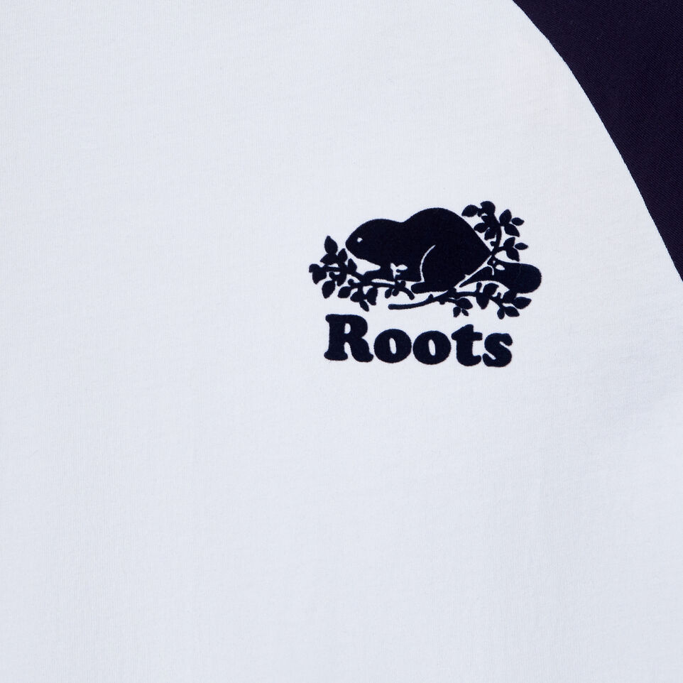 Roots-New For March Daily Offer-Womens Caraquet Raglan T-shirt-Crisp White-C