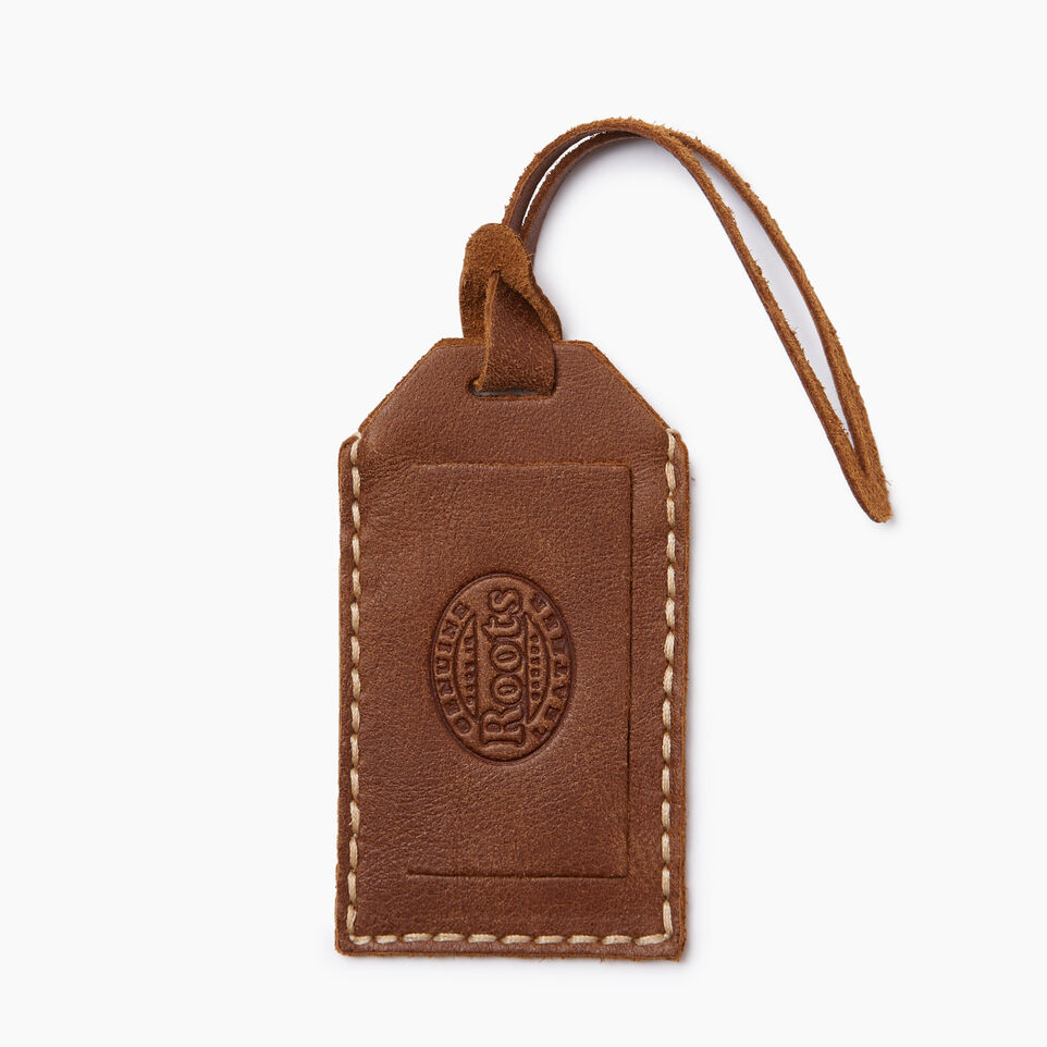 Roots-Leather  Handcrafted By Us Our Favourite New Arrivals-Maple Leaf Luggage Tag-Natural-B