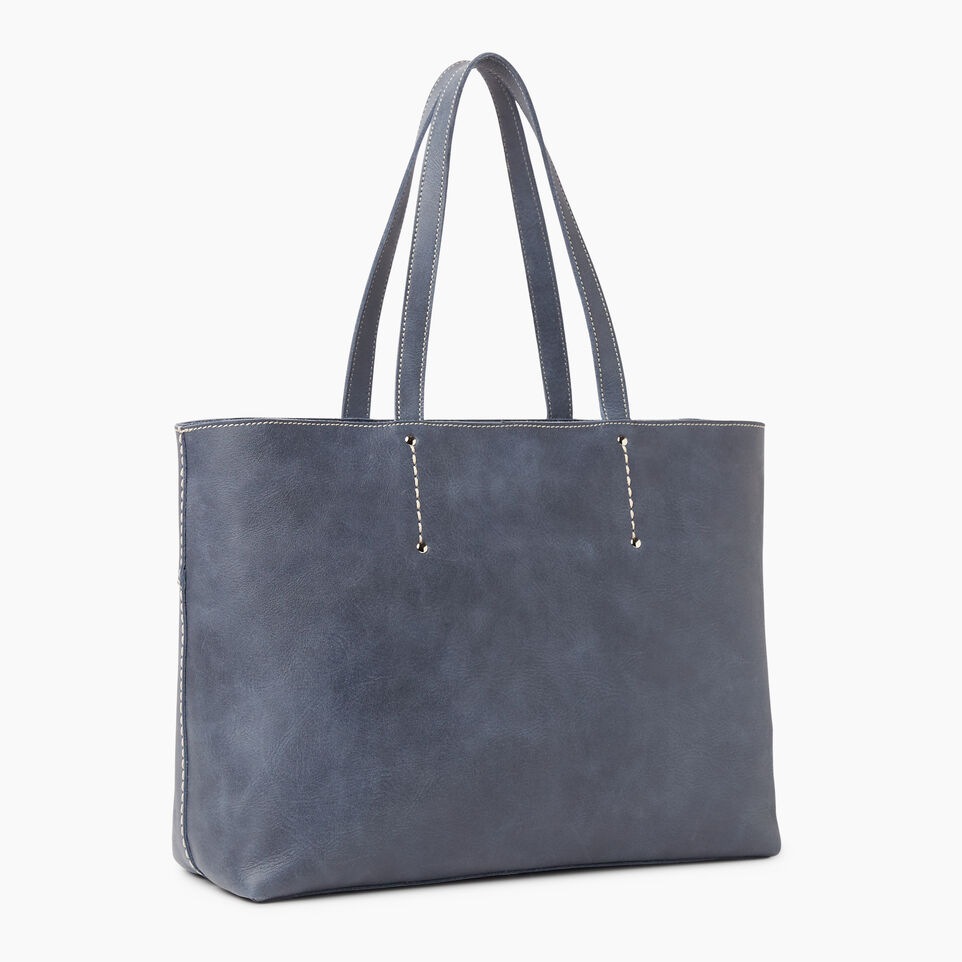 Roots-Leather Categories-Westmount Tote Tribe-Navy-C