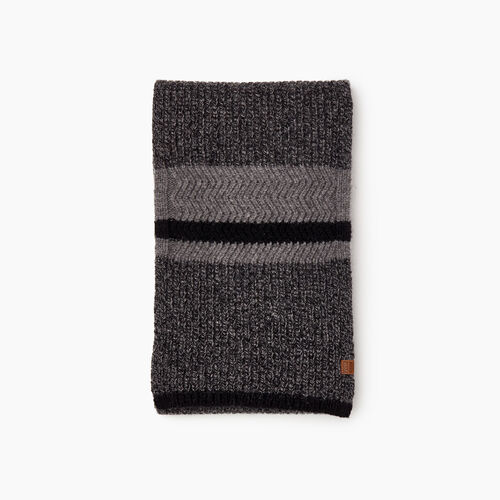 Roots-Men Scarves-Cabin Rib Scarf-Black Mix-A