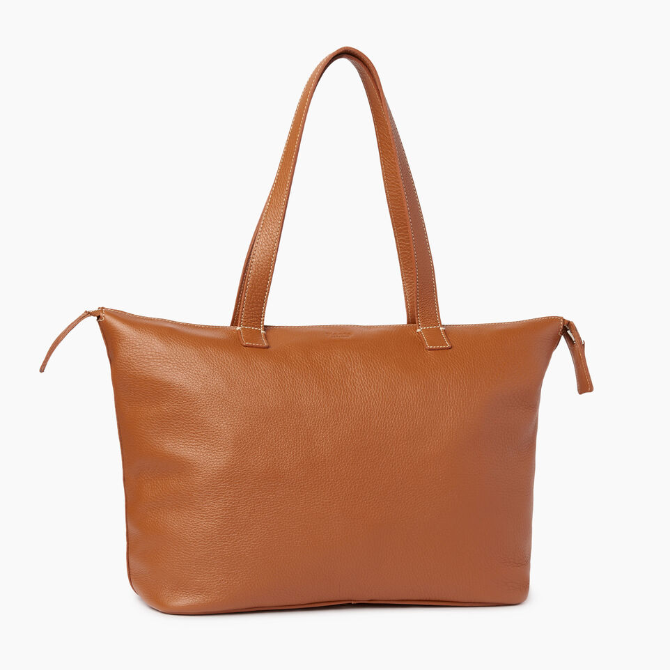 Roots-Leather Our Favourite New Arrivals-Go To Bag-Caramel-C