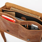 Roots-Leather Briefcases & Messengers-The Original Briefcase-Natural-E