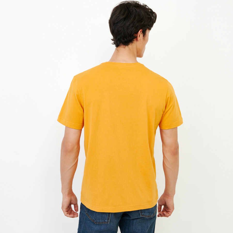 Roots-Men Our Favourite New Arrivals-Mens Cooper Beaver T-shirt-Squash Yellow-E