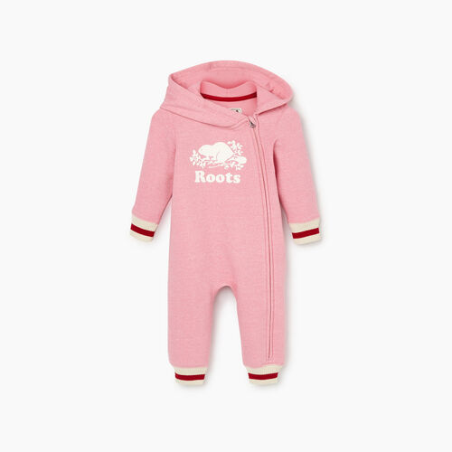 Roots-Kids Our Favourite New Arrivals-Baby Roots Cabin Cozy Romper-Cashmere Rose Pepper-A