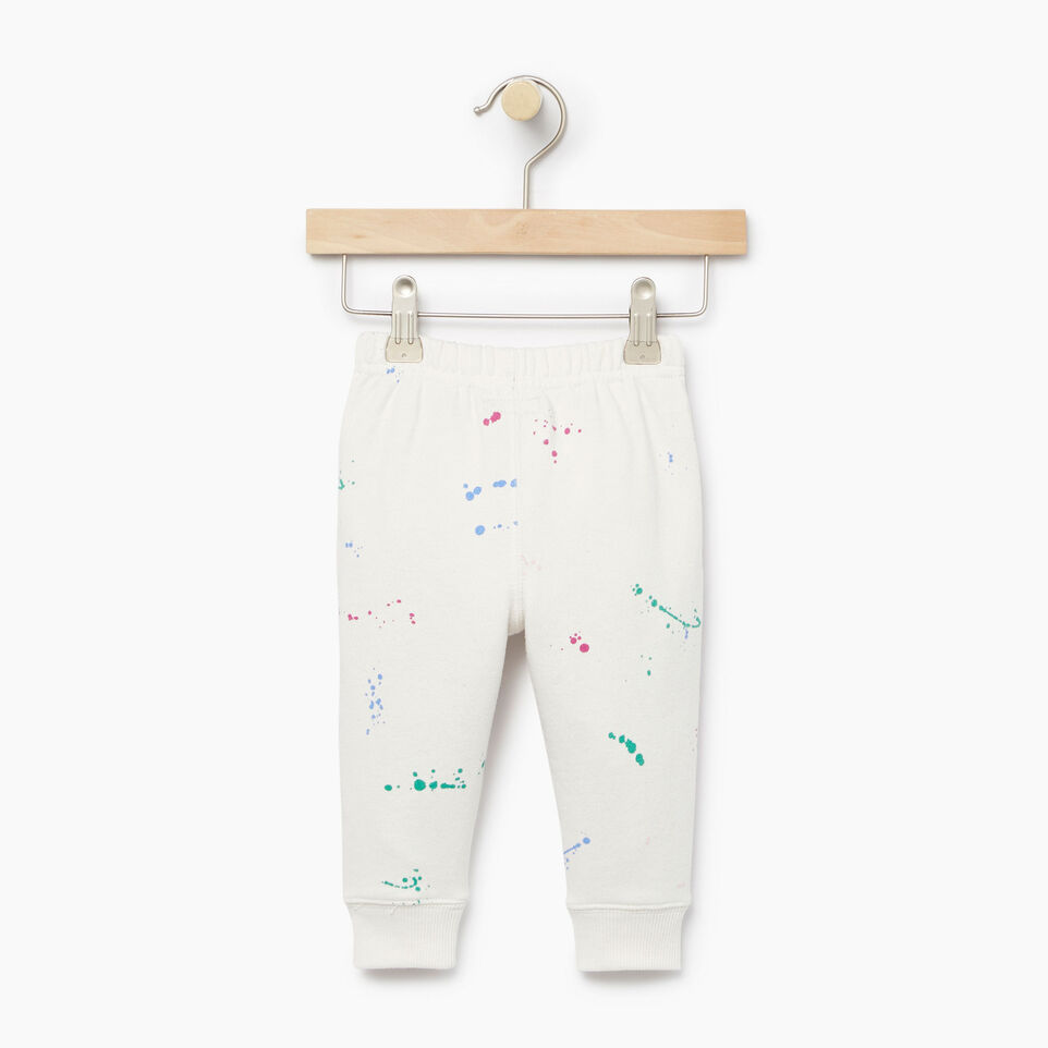Roots-Kids Our Favourite New Arrivals-Baby Splatter Sweatpant-Cannoli Cream-B