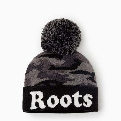 Roots-Kids Accessories-Toddler Camo Toque-Black Camo-A