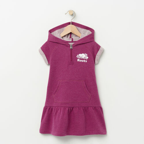 Roots-Kids Categories-Toddler Short Sleeve Hooded Dress-Potent Purple Mix-A