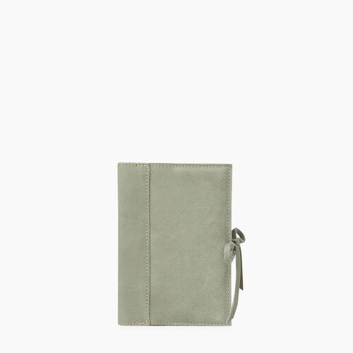 Roots-Leather Tech & Travel-Small Sketchbook Tribe-Lichen-A