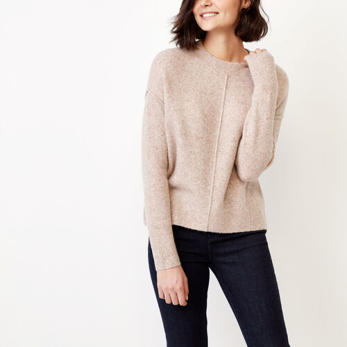 Roots-Women Sweaters & Cardigans-Nadina Crew Sweater-Dusty Blush-A