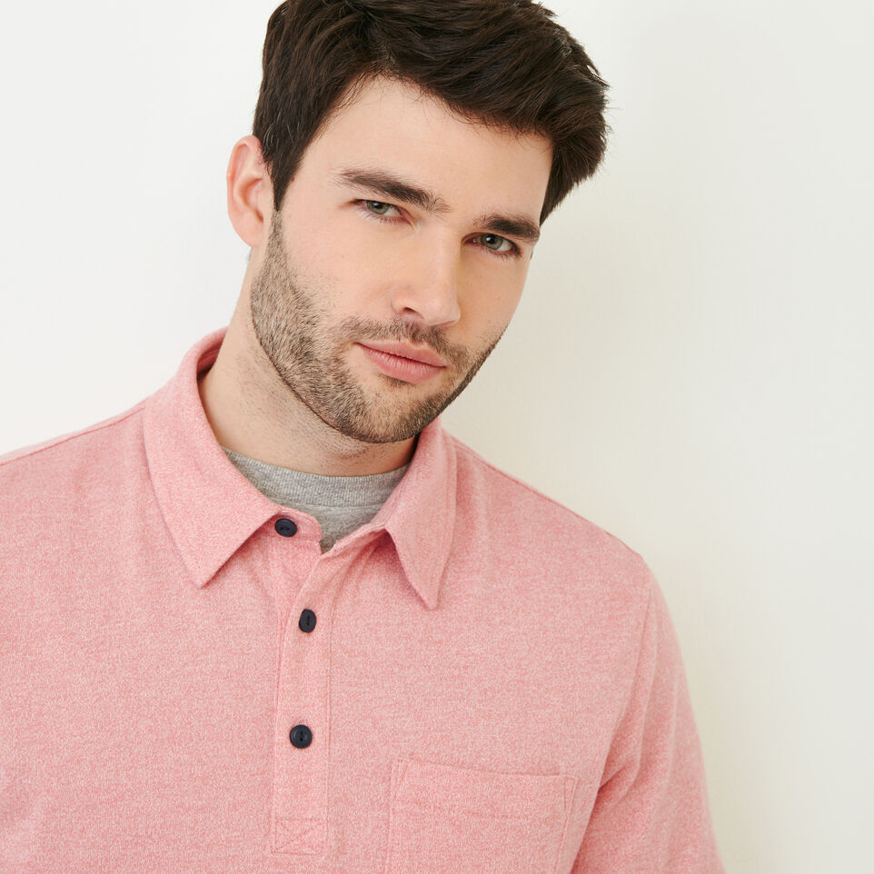 Roots-Men Our Favourite New Arrivals-Jersey Peppered Polo-Pink Pepper-E