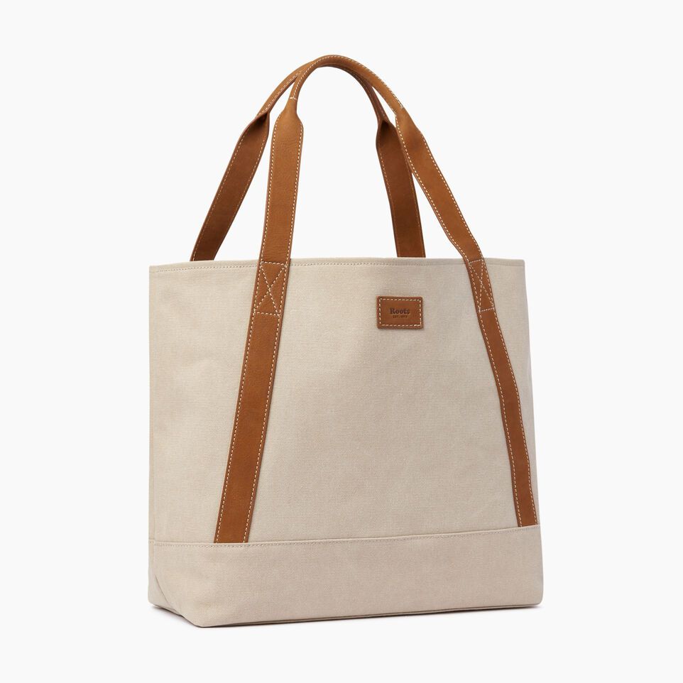 Roots-Women Our Favourite New Arrivals-Muskoka Tote Canvas-Natural-A