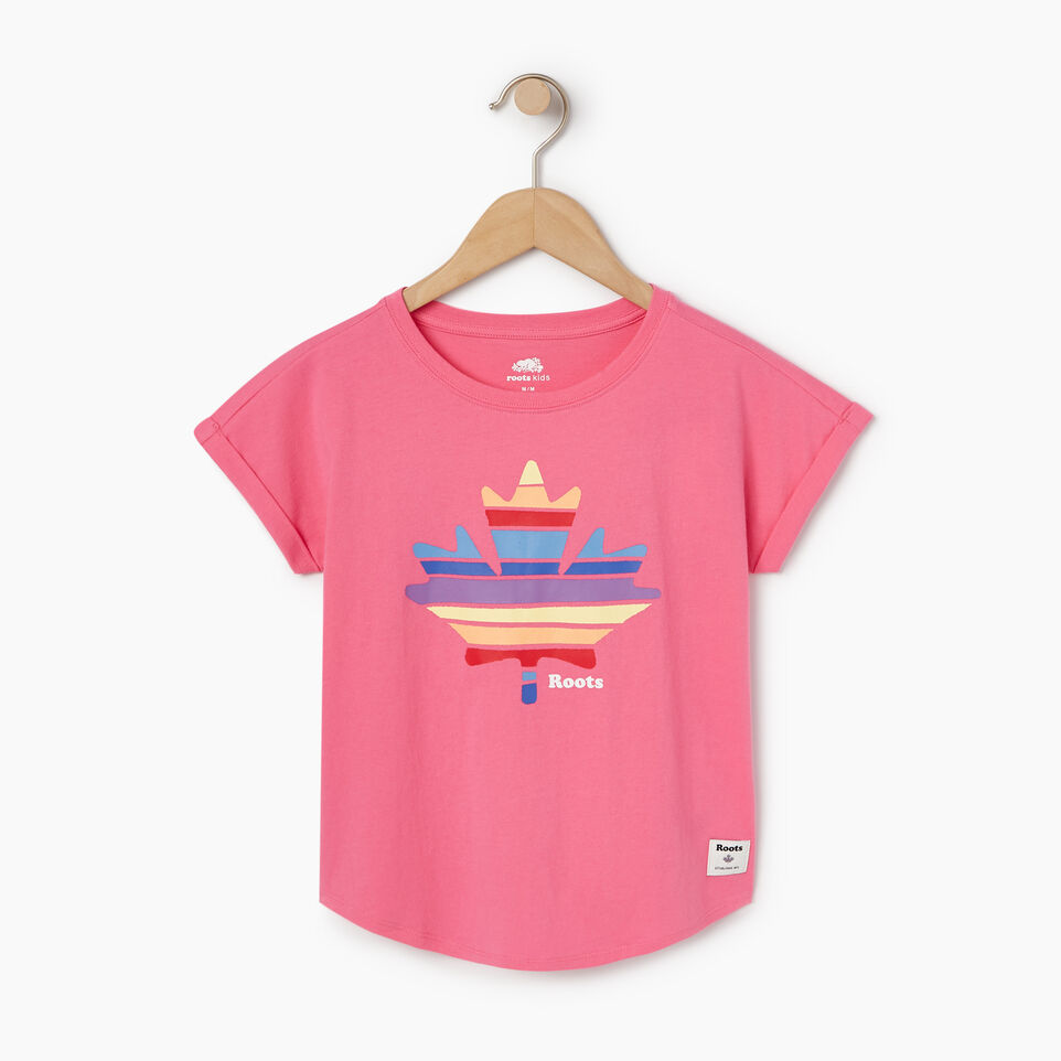 Roots-Kids Our Favourite New Arrivals-Girls Camp T-shirt-Azalea Pink-A