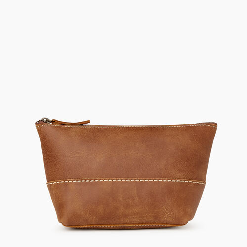 Roots-Women Leather Accessories-Robson Pouch-Natural-A
