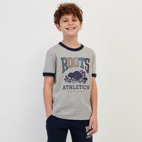 Roots-Kids Our Favourite New Arrivals-Boys RBA Ringer T-shirt-Grey Mix-A