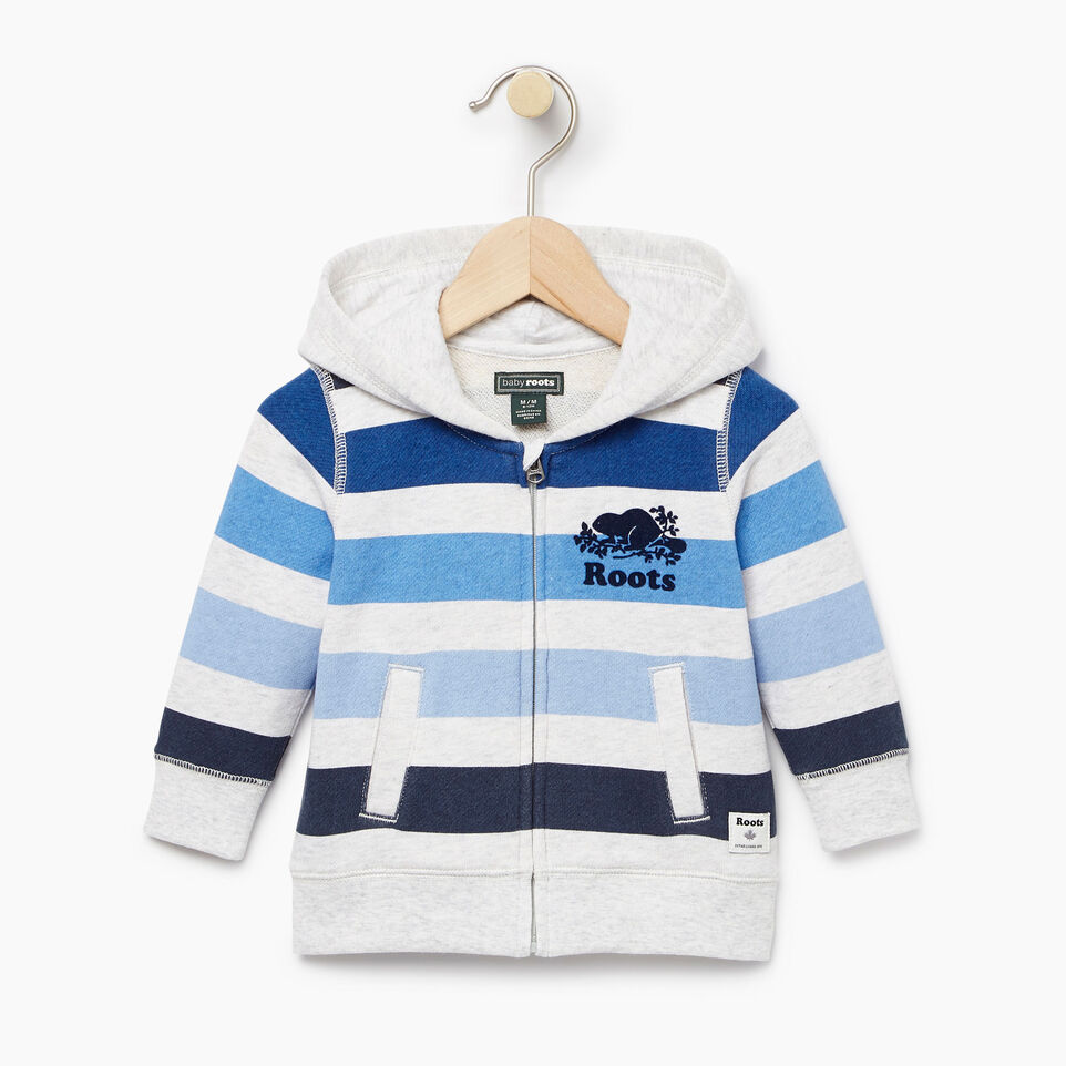 Roots-Kids Our Favourite New Arrivals-Baby Ombre Stripe Full Zip Hoody-White Mix-A