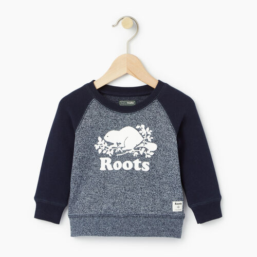 Roots-Kids Categories-Baby Original Crewneck Sweatshirt-Navy Blazer Pepper-A