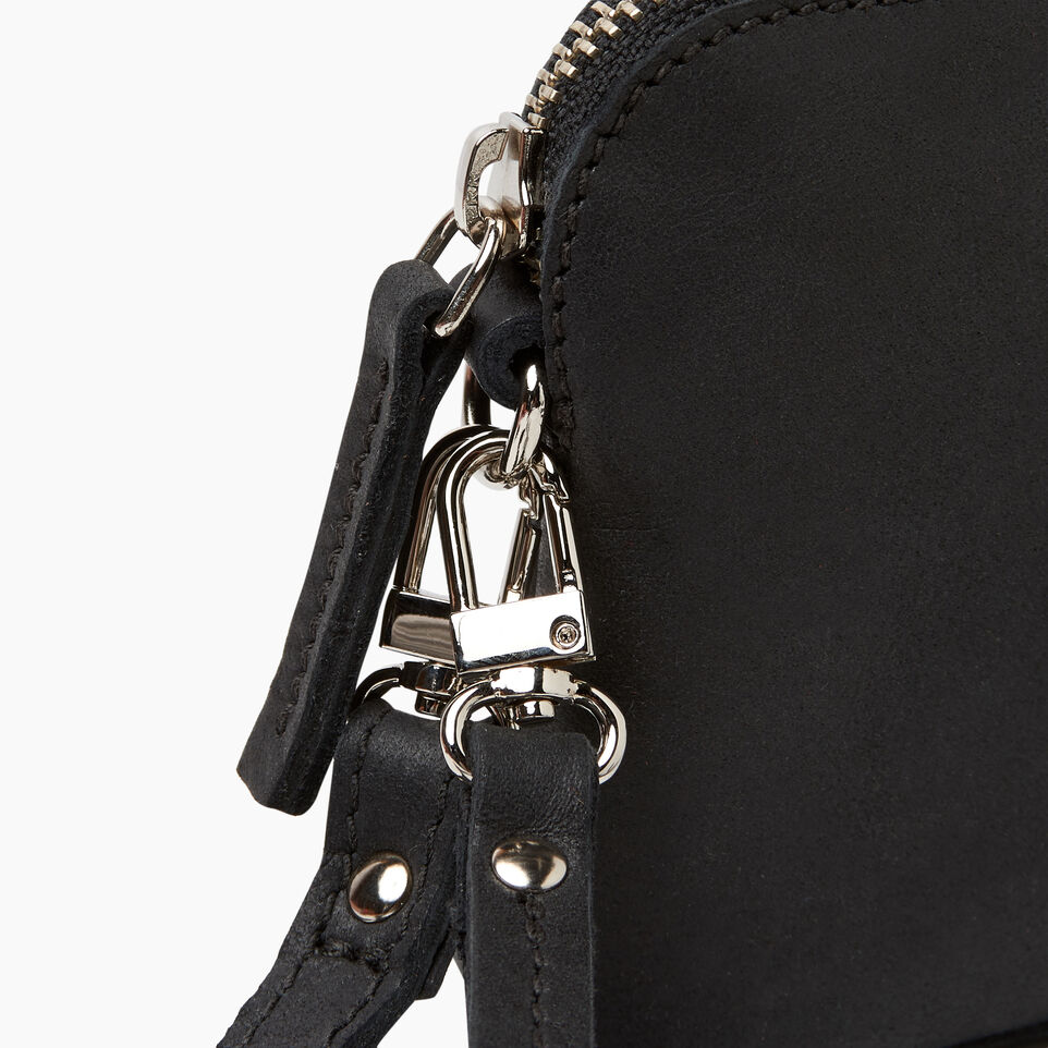 Roots-Leather New Arrivals-Christie Crossbody Tribe-Jet Black-F