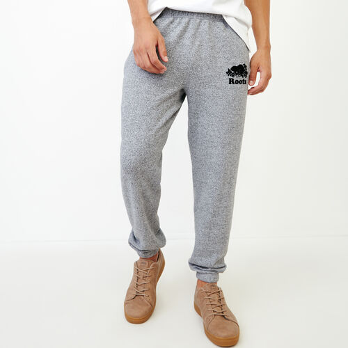 Roots-Men Slim Sweatpants-Original Slim Sweatpant-Salt & Pepper-A