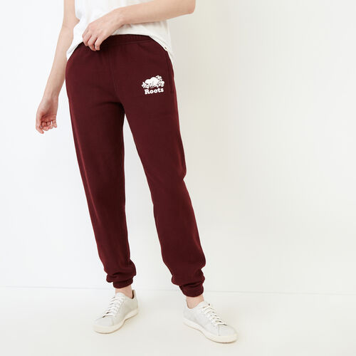 Roots-Women Original Sweatpants-Original Sweatpant-Crimson-A