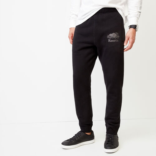 Roots-Men Our Favourite New Arrivals-Cooper Reflect Sweatpant-Black-A