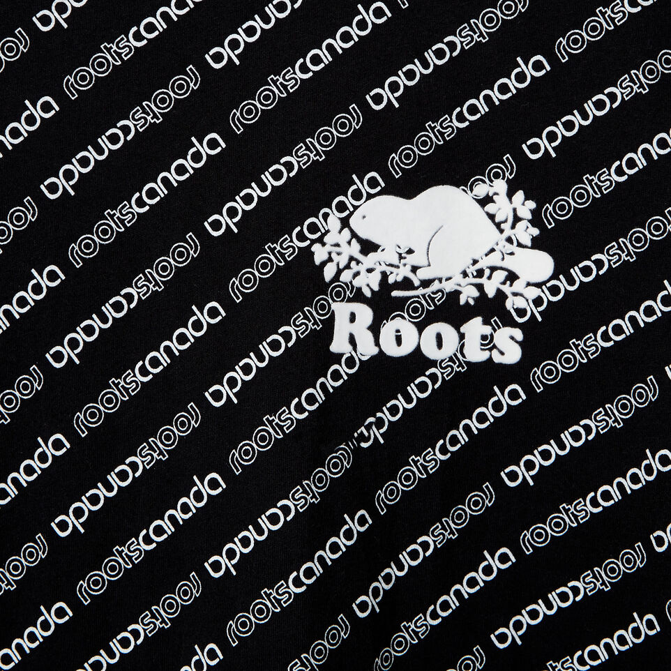 Roots-New For July Daily Offer-Womens Peleton T-shirt-Black-D