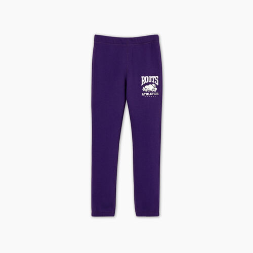 Roots-Kids Bottoms-Girls RBA Sweatpant-Acai-A