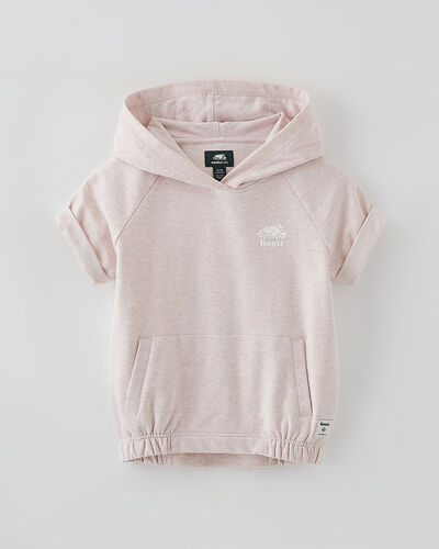 Roots-Sweats Girls-Girls Woodland Hoody-Pale Mauve Mix-A