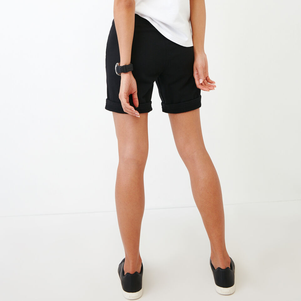 Roots-Women Our Favourite New Arrivals-Original Longer Sweatshort-Black-D