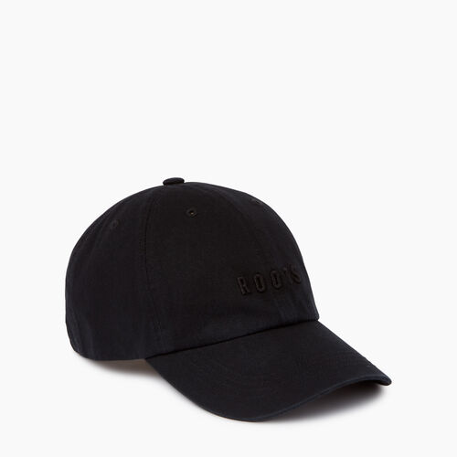 Roots-Men Accessories-Roots Classic Baseball Cap-Black-A