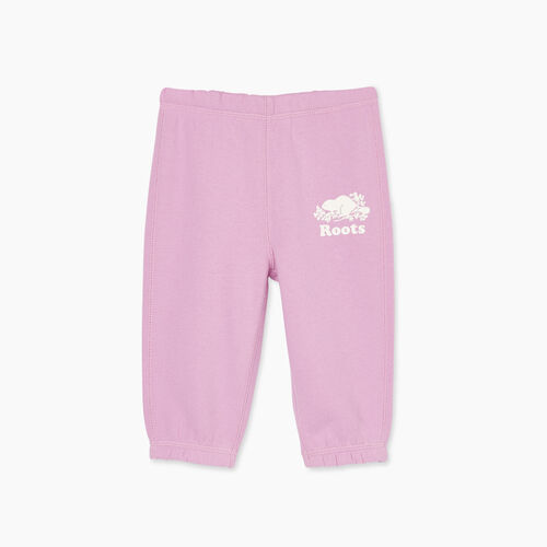 Roots-Kids Bottoms-Baby Original Roots Sweatpant-Orchid-A