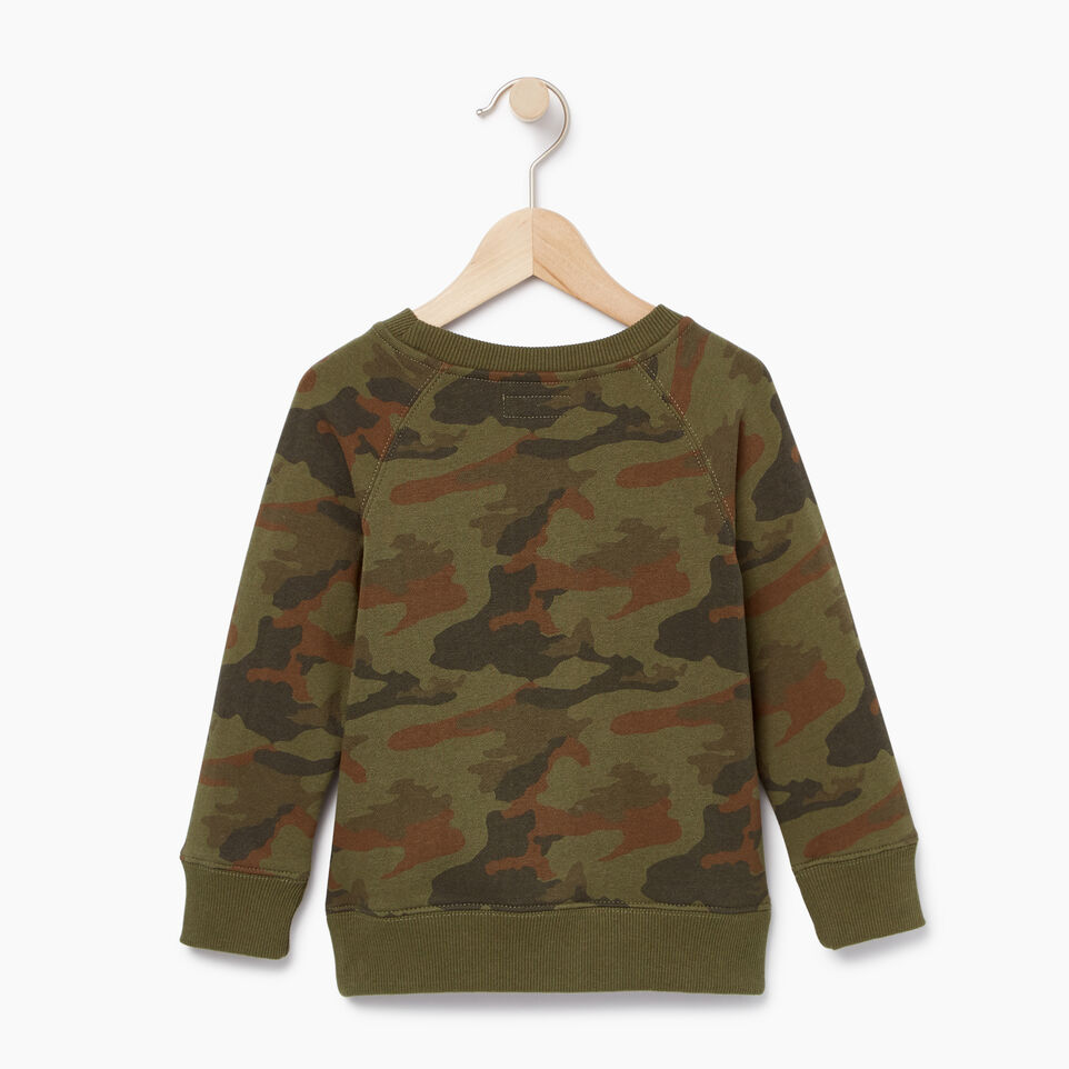 Roots-Kids Our Favourite New Arrivals-Toddler Camo Sweatshirt-Winter Moss Green-B