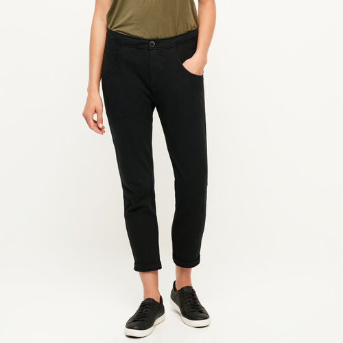Roots-Women Bottoms-Jasper Knit Pant-Black-A