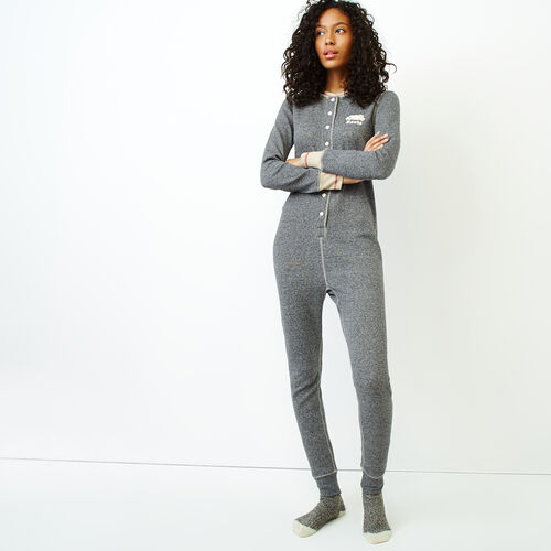 Roots-New For January Women-Roots Waffle Onesie-Salt & Pepper-A