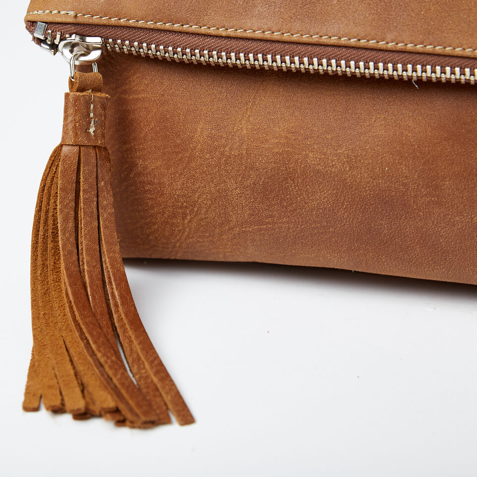 Roots-Leather Handbags-Anna Clutch Tribe-Natural-D