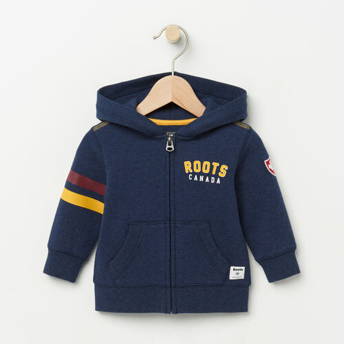 Roots-Kids Baby Boy-Baby Walden Varsity Hoody-Cascade Blue-A