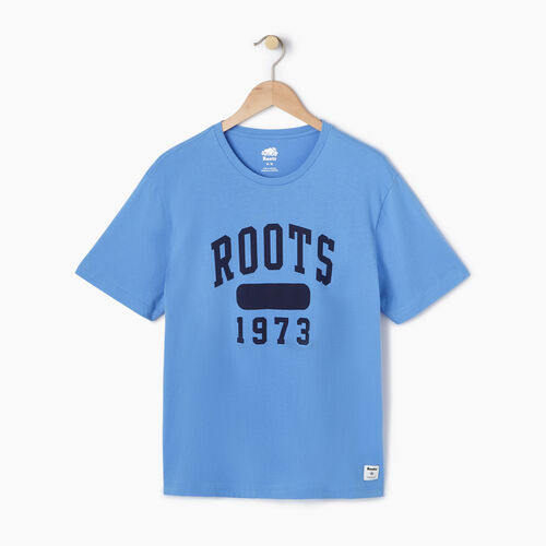 Roots-Men Our Favourite New Arrivals-Mens Block 1973 Canada T-shirt-Blue Bonnet-A