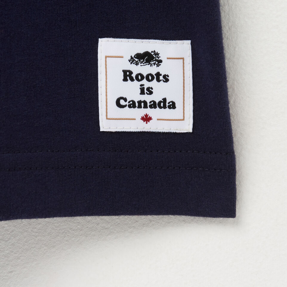 Roots-Men Canada Collection By Roots™-Mens Cooper Canada T-shirt-Navy Blazer-C