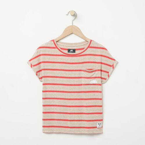 Roots-New For April Kids-Girls Stripe Pocket Top-Flaxseed Mix-A