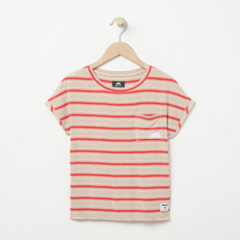 Roots-undefined-Girls Stripe Pocket Top-undefined-A