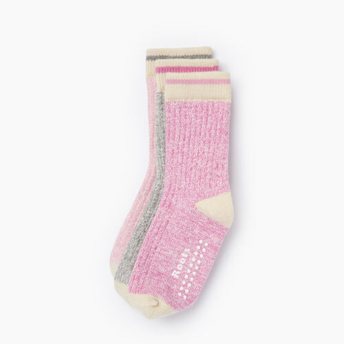 Roots-Kids Toddler Girls-Toddler Cabin Sock 3 Pack-Pastel Lavender-A