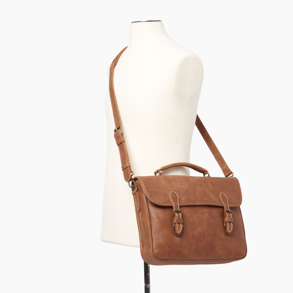 Roots-Leather  Handcrafted By Us Our Favourite New Arrivals-Small School Bag-Natural-B