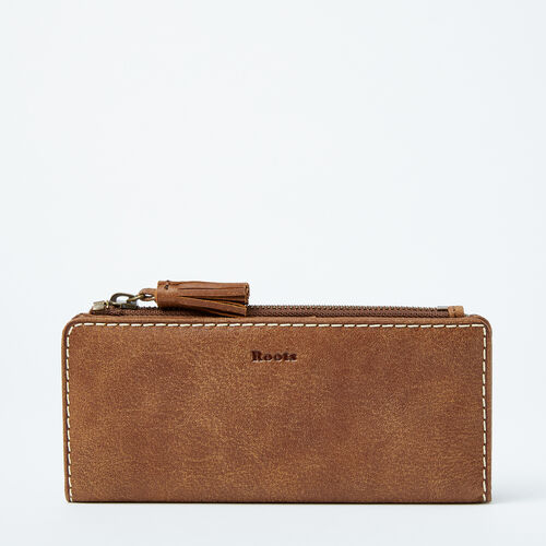 Roots-Leather  Handcrafted By Us Categories-Slim Wallet-Natural-A