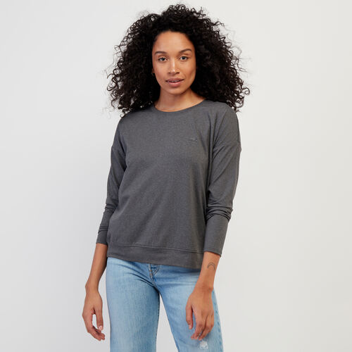 Roots-New For February Journey Collection-Journey Long Sleeve Top-Charcoal Mix-A