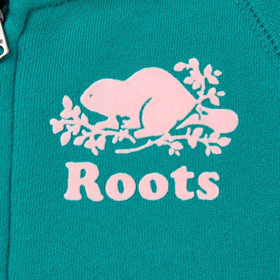 Roots-Sale Kids-Baby Original Full Zip Hoody-Dynasty Turquoise-D