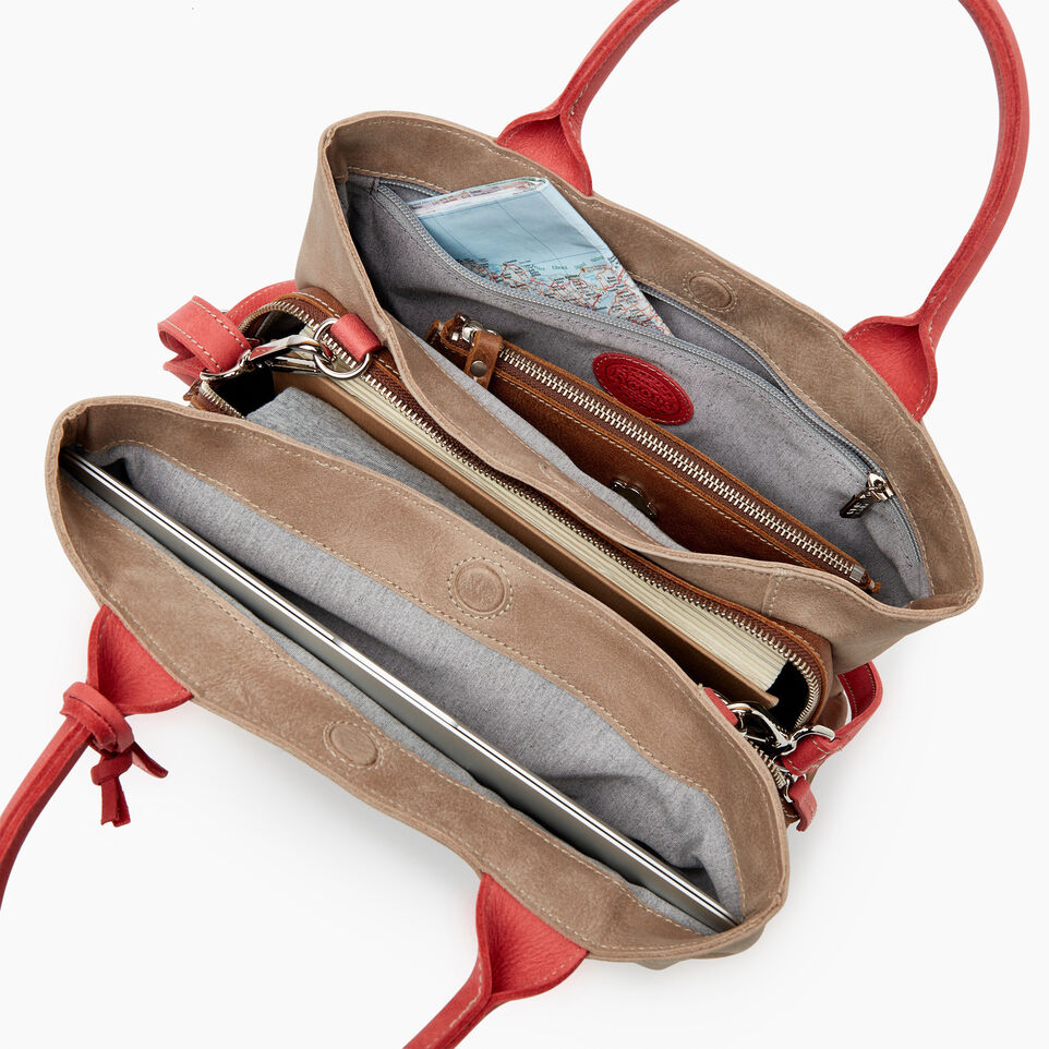 Roots-Leather  Handcrafted By Us Our Favourite New Arrivals-Mont Royal Bag - Colour Block-Coral-D